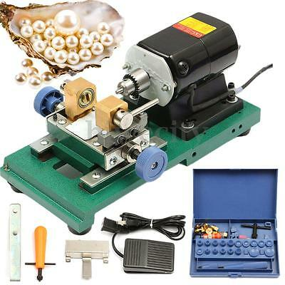 1PC 300W 220V Pearl Holing Drilling Machine Driller Full Set Jewelry Tools New