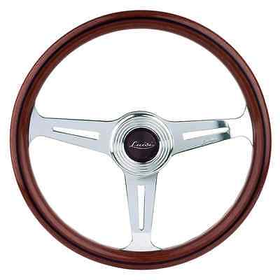 CLASSIC SPORT WOOD STEERING WHEEL LUISI MONTECARLO 360mm MAHOGANY MADE IN ITALY