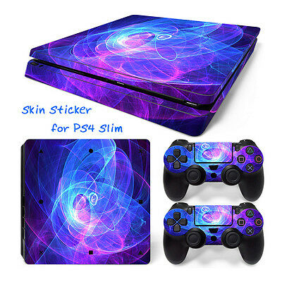 AU 1308# Body Sticker Decal Skin For Playstation 4 PS4 Slim Console+Controllers