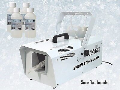 FXLAB Snow Flake Christmas Disco Grotto Party Effects Machine Remote & Fluid