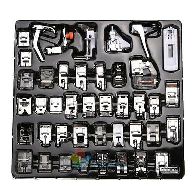 42pcs Domestic Sewing Machine Presser Foot Set For Janome Brother Singer UK BEST