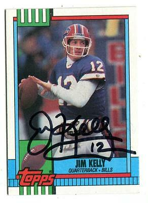 1990 Topps #207 Jim Kelly In Person Autograph in Black Ink Bills