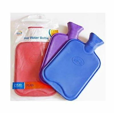 Rubber Plain Hot Water Bottle - Red - 3 Pack