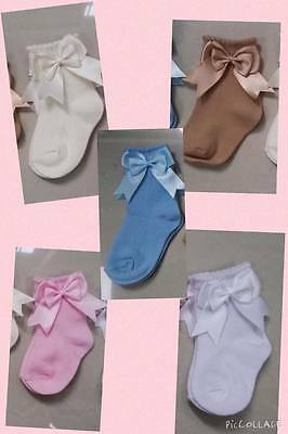WHOLESALE DOUBLE BOW ANKLE  BOW SOCKS ALL 50pairs SPANISH  random colous /siZE