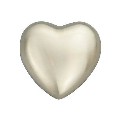 Classic Silver Heart Urn Keepsake for Dog Cat Ashes Cremation Engraving Service