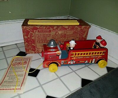 Fisher Price Commemorative Looky Fire Truck 2004 Classic Limited Edition