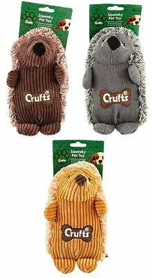Crufts Squeaky Hedgehog Dog Toy Playing Fun Pet Care Home Accessories