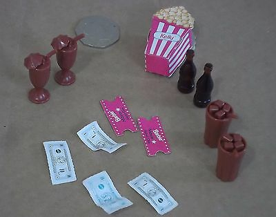 "12"" Fashion Doll 13 Piece Cinema For Two Play Set For Barbie Type Doll."