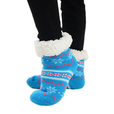 Teenage Children Christmas Slipper Socks Snowflake Grip 1 Pair Size UK 12-3