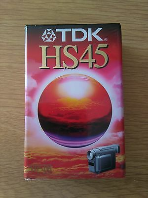 2x TDK HS45 VHSC Cinta video camara