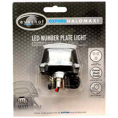 Oxford Motorbike Halo Maxi Compact Replacement LED Number Plate Light