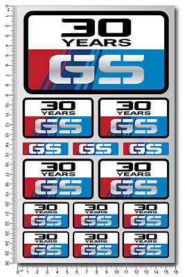 30 years GS motorcycle decal set 14 stickers t1100gs r1200gs r1150gs Laminated