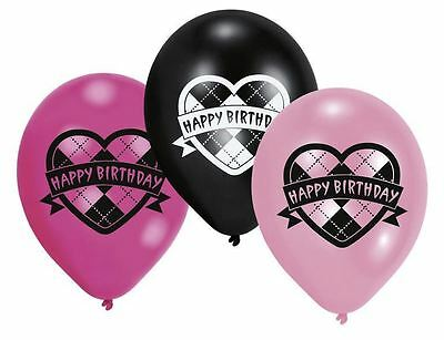 "Monster High 11"" Latex Balloons 6pk - Monster High Birthday Party Decorations"