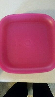 """New Tupperware Luncheon Plates Set of four Sheer Pink 8"""""""