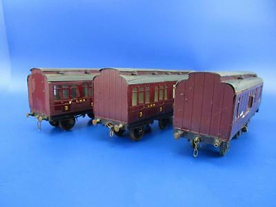7mm FINESCALE O GAUGE SLATERS KIT BUILT 6 WHEEL COACHES x 3
