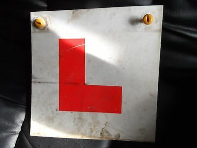 plastic learner plate with screws motorcycle