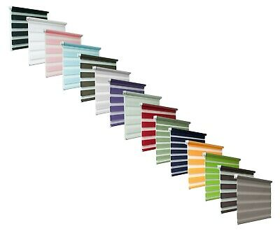 New Made To Measure Day and Night Zebra/Vision Window Roller Blinds, 14 colours