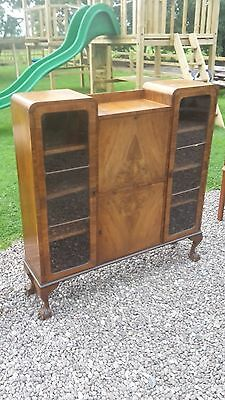 Vintage Side By Side Bureau / Writing Desk On Ball And Claw Feet Delivery Avail