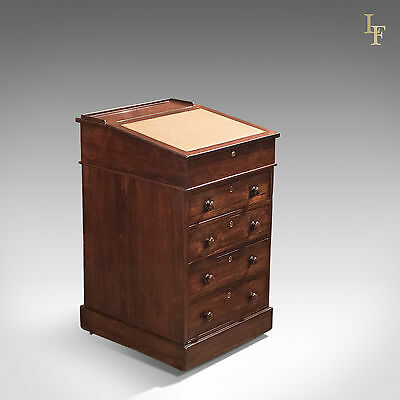 Antique Swivel Top Davenport, Victorian Rosewood Campaign Desk, English c.1850