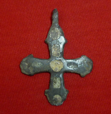 Knights Templar Ancient BRONZE CROSS  AMULET / PENDANT  Circa 1100 AD     -3252-