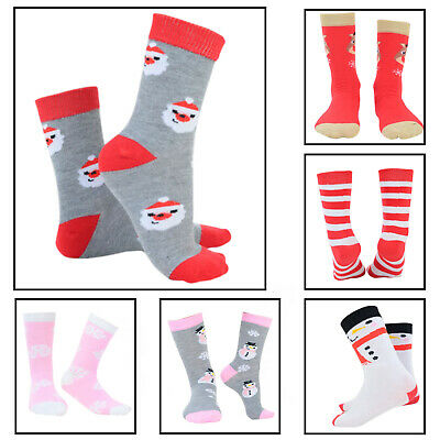 Kids Christmas Socks Children's Novelty Xmas Stocking Filler Gift