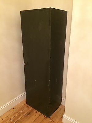 Large Vintage Industrial Steel Accounts Cabinet- Home- Restaurant- Shop