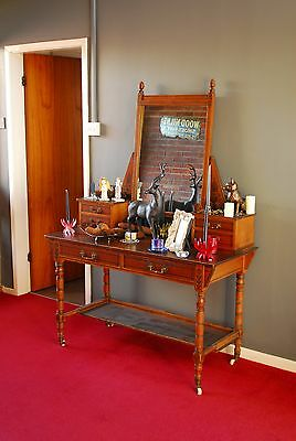 Arts and Crafts Hall stand with mirror and drawers dresser dressing table drawer
