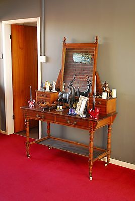 Arts and Crafts Hand Painted Hall stand with mirror and drawers