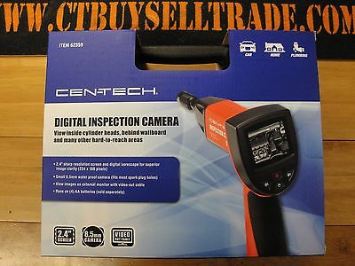 NIB NEW Centech Digital Inspection Camera Scope 62359 With Carrying Case