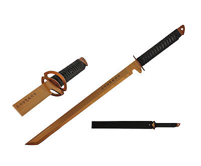 """27"""" Stainless Steel Gold Blade Sword with Sheath"""