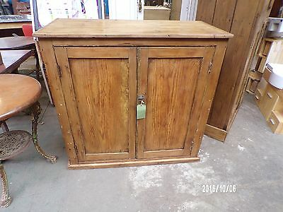 Large Antique Pine Kitchen Cupboard