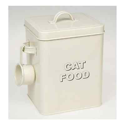 Lesser and Pavey 20cm Home Sweet Home Cat Food Storage Container Cream - NEW