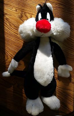 Vintage 1996 Sylvester the Cat Plush Stuffed Animal RARE Carnival Prize Toy