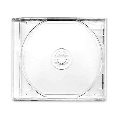 50 NEW standard single Clear CD Jewel Case with Assembled Clear Tray