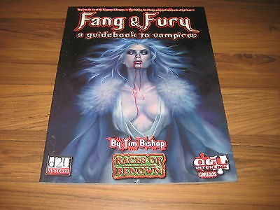 d20 Fang & Fury A Guidebook to Vampires Accessory SC 2003 Green Ronin GRR1105