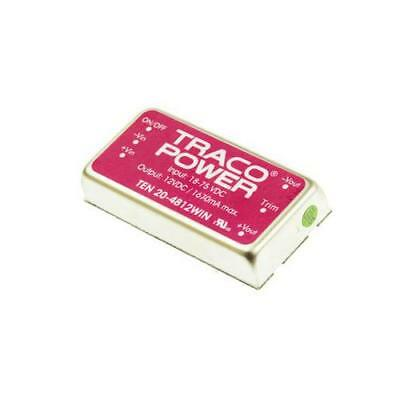1 x TRACOPOWER Isolated DC-DC Converter TEN 20-4812WIN Vin 18-75V dc Vout 12V dc