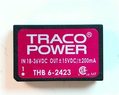1 x TRACOPOWER Isolated DC-DC Converter THB 6-2423, Vin 18-36V dc, Vout ±15V dc