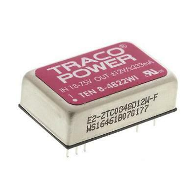 1 x TRACOPOWER Isolated DC-DC Converter TEN 8-4822W, Vin 18-75V dc, Vout ±12V dc