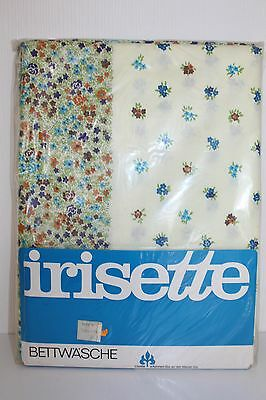 IRISETTE Vintage BETTWÄSCHE Garnitur fabric STOFF Baumwolle cotton SHABBY CHIC