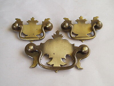 Vintage Brass Hardware Pulls/Drawer Handles - Set of 3
