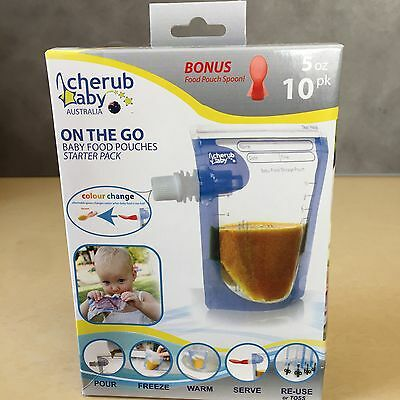 New, On the Go Baby Food Pouches Starter 10 pack - Plus spoon BPA Free
