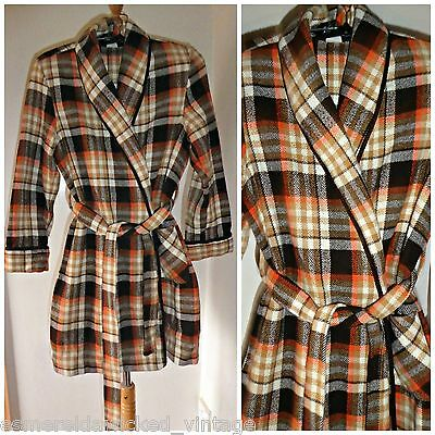 Vintage 70S Boys Checked Dressing Gown M&s Age 7-10