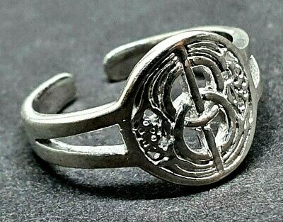 Toe Ring, CHALICE WELL, GLASTONBURY  925 Sterling Silver Adjustable Pagan Wiccan