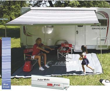 Fiamma Awning F45S 400 Blue - Motorhome Awning White Case