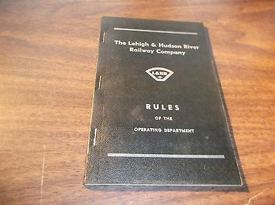 April 1962 Lehigh & Hudson River Railway Rules Of The Operating Department