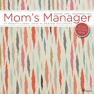 2017 Moms Manager Mojave 17 Month Wall Calendar