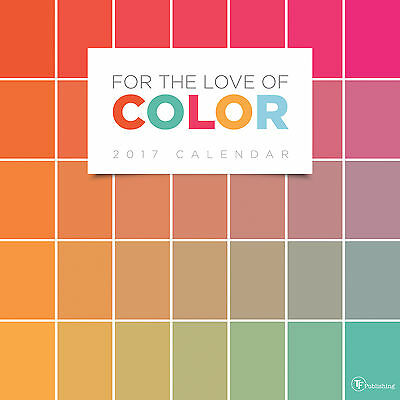 2017 For the Love of Color Large Grid Planning Wall Calendar