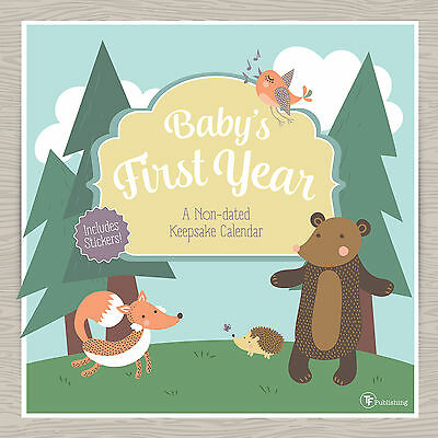 Babys First Year Woodland NonDated Wall Calendar