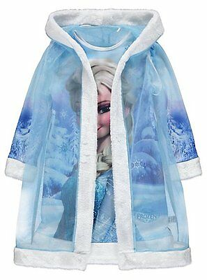 Girls Disney Frozen Nightdress and Cape Hooded Gown Robe Age's 2-8 Years