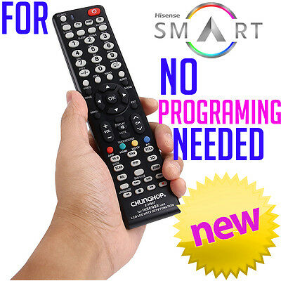 Hisense Smart TV Universal NO PROGRAMMING 3D HDTV LED LCD Remote Control NEW